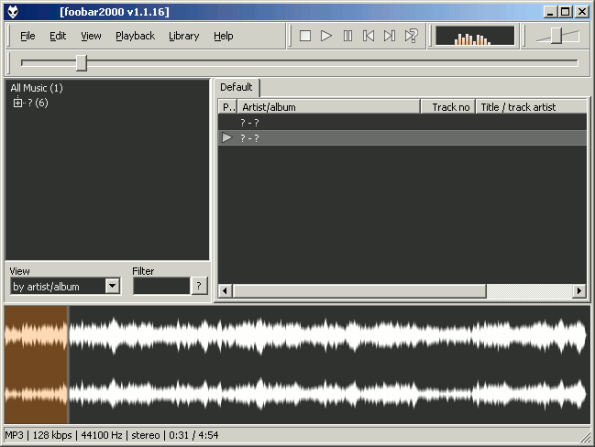 foobar2000 waveform